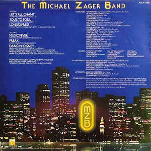 Back Cover Album Michael Zager Band - Let's All Chant