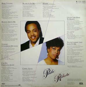 Back Cover Album Peabo Bryson - Born To Love