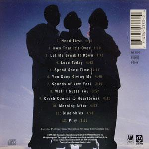 Back Cover Album Vertical Hold - Head First