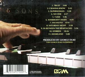 Back Cover Album George Duke - Duke