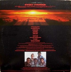 Back Cover Album Sweet Thunder - Above The Clouds
