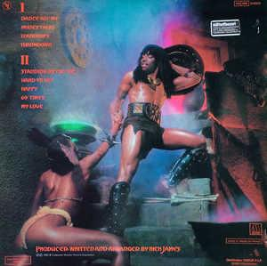 Back Cover Album Rick James - Throwin' Down