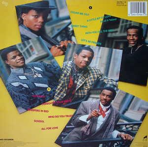 Back Cover Album New Edition - All For Love