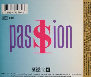 Back Cover Album Shirley Lewis - Passion