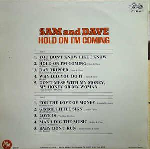 Back Cover Album Sam & Dave - Hold On I'm Coming