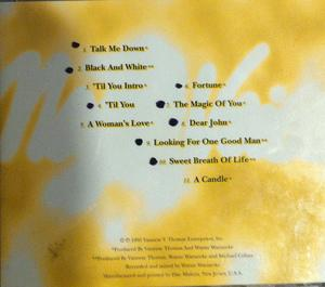 Back Cover Album Vaneese Thomas - Many Voices