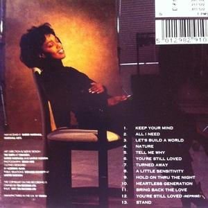 Back Cover Album Lavine Hudson - Between Two Worlds