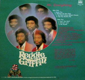 Back Cover Album Reggie Griffin - Mr. Everything