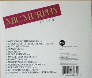 Back Cover Album Mic Murphy - Touch