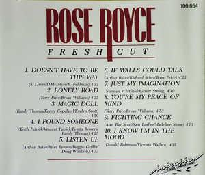 Back Cover Album Rose Royce - Fresh Cut