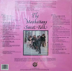 Back Cover Album The Manhattans - Sweet Talk