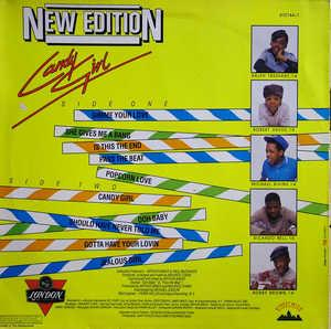Back Cover Album New Edition - Candy Girl
