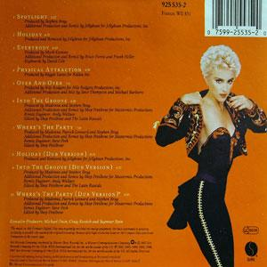 Back Cover Album Madonna - You Can Dance