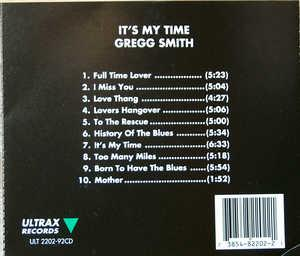 Back Cover Album Greg Smith - It's My Time