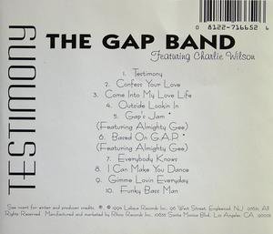 Back Cover Album The Gap Band - Testimony