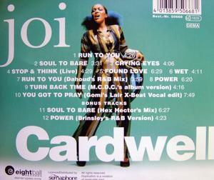 Back Cover Album Joi Cardwell - Joi Cardwell