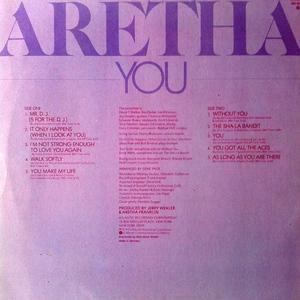 Back Cover Album Aretha Franklin - You