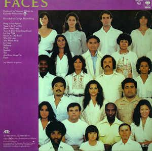 Back Cover Album Wind & Fire Earth - Faces