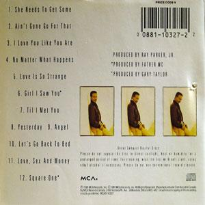 Back Cover Album Ray Parker Jr. - I Love You Like You Are