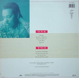 Back Cover Album Luther Vandross - Any Love