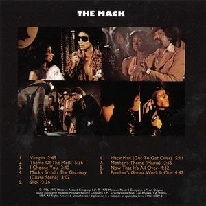 Back Cover Album Willie Hutch - The Mack