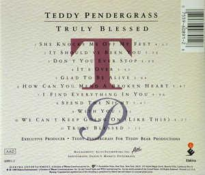 Back Cover Album Teddy Pendergrass - Truly Blessed