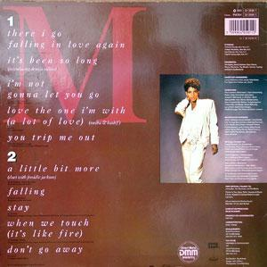 Back Cover Album Melba Moore - A Lot Of Love