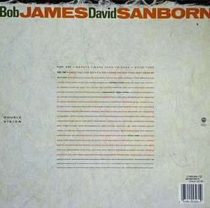 Back Cover Album Bob James - Double Vision With David Sanborn