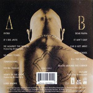 Back Cover Album 2pac - Me against the World
