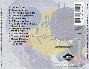 Back Cover Album D.j. Jazzy Jeff & The Fresh Prince - Homebase