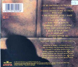 Back Cover Album Jeffrey Osborne - Only Human