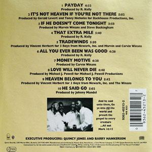 Back Cover Album The Winans - All Out