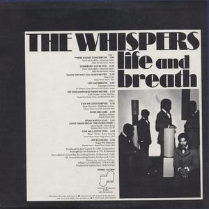 Back Cover Album The Whispers - Life And Breath