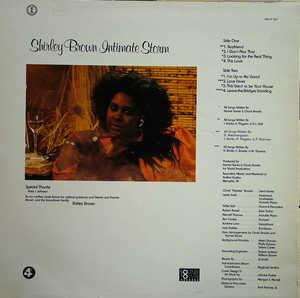 Album Shirley Brown Intimate Storm 4th Amp Broadway