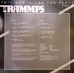 Back Cover Album The Trammps - This One Is For The Party