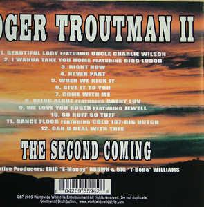 Back Cover Album Roger Troutman Ii - The Second Coming
