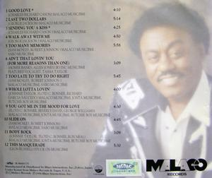 Back Cover Album Johnnie Taylor - Good Love!