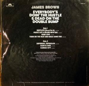 Back Cover Album James Brown - Everybody's Doin' The Hustle And Dead On The Double Bump
