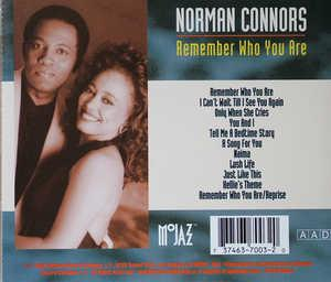 Back Cover Album Norman Connors - Remember Who You Are