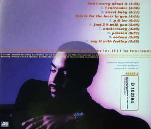 Back Cover Album Gerald Albright - Smooth