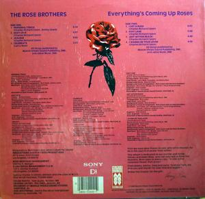 Back Cover Album The Rose Brothers - Everthing's Coming Up Roses