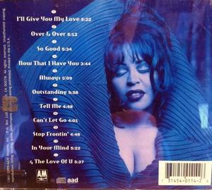 Back Cover Album Vesta Williams - Everything -n- More