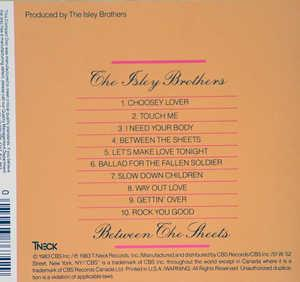 Back Cover Album The Isley Brothers - Between The Sheets