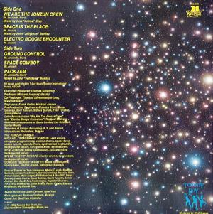Back Cover Album Jonzun Crew - Lost In Space