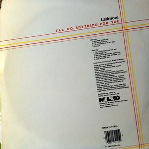 Back Cover Album Latimore - I'll Do Anything For You