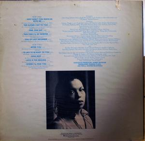 Back Cover Album Roberta Flack - Blue Lights In The Basement
