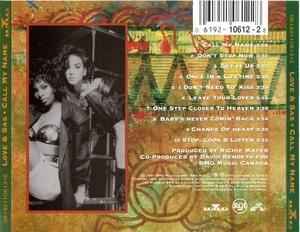 Back Cover Album Love And Sas - Call My Name