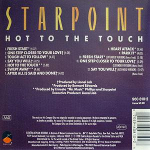Back Cover Album Starpoint - Hot To The Touch
