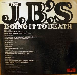 Back Cover Album The J. B.'s - Doing It To Death