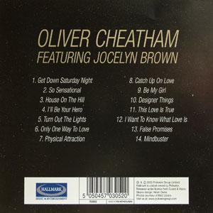 Back Cover Album Oliver Cheatham - Get Down Saturday Night